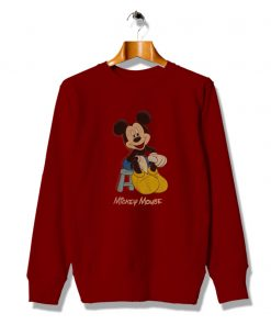 Vintage Get Buy Mickey Mouse Red Sweatshirt