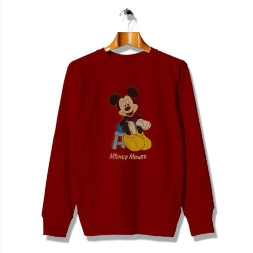 Vintage Get Buy Mickey Mouse Red Sweatshirt