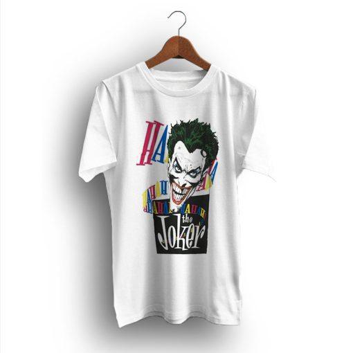 Comics Laughing Joker HaHaHa Batman 1987 Vintage T-Shirt