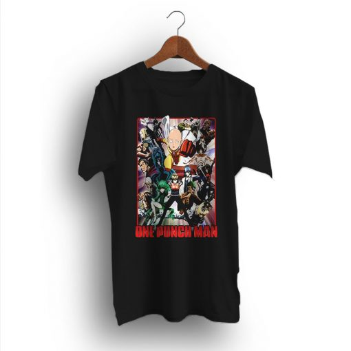 Japanese Superhero Cast of Characters One Punch Man T-Shirt