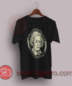 Science Einstein's Imagination Slogan T-Shirt