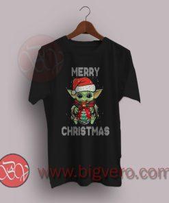 The Mandalorian Baby Yoda Merry Christmas T-Shirt
