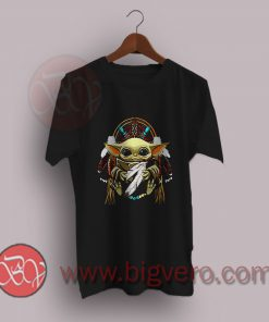 The-Mandalorian-Baby-Yoda-Native-American-people-T-Shirt