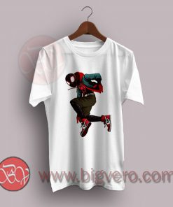 Latino Comicbook Miles Morales Spiderman Jordans T-Shirt