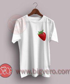 Simple Strawberry Fruit Heart T-Shirt