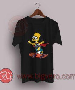 Bart-The-Simpson-Retro-Skateboard-T-Shirt