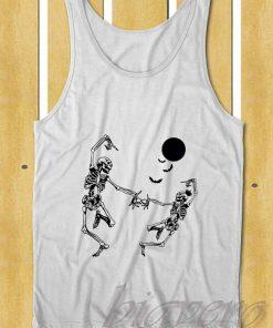 Dancing Skeleton Halloween Tank Top